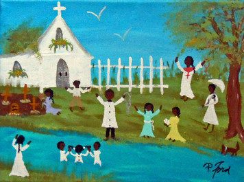 THE BAPTISM - BLACK ART  by P Ford
