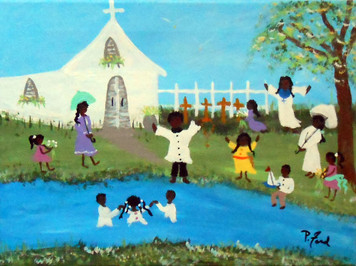 SUNDAY BAPTISM - BLACK ART  by P Ford