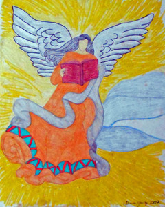 ANGEL with a BOOK by Floria Yancey