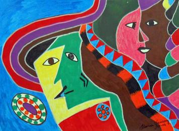 FOUR FACES by Floria Yancey