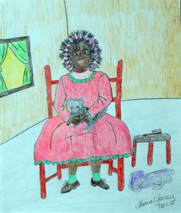 LITTLE GIRL IN A CHAIR by Floria Yancey