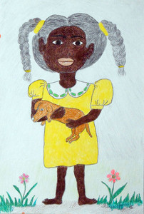 LITTLE GIRL in a YELLOW DRESS by Floria Yancey