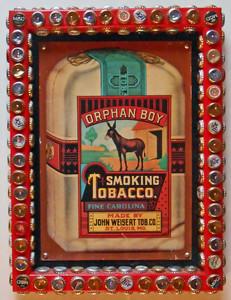 RARE!! ORPHAN BOY SMOKING TOBACCO SIGN framed by George Borum