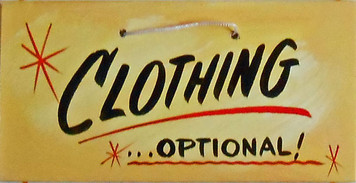 CLOTHING OPTIONAL SIGN HH 4  _  FREE SHIPPING