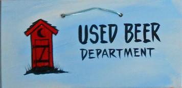 USED BEER DEPT - OUTHOUSE - HH 12 - FREE SHIPPING