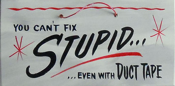 YOU CAN'T FIX STUPID - EVEN WITH DUCT TAPE  - HH 14 - FREE SHIPPING
