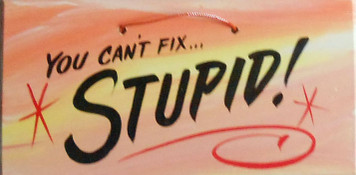 YOU CAN'T FIX STUPID SIGN - HH 15 - FREE SHIPPING