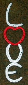 LOVE SIGN made with Amish Horseshoes