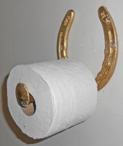 GOLD - HORSESHOE TOILET PAPER HOLDER