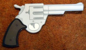 WOOD CUT-OUT REVOLVER HAND GUN by George Borum