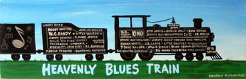 HEAVENLY BLUES TRAIN PAINTING by George Borum