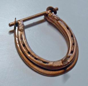 AMISH HORSESHOE DOOR KNOCKER - Copper Hammered Finish - by Amish Blacksmith