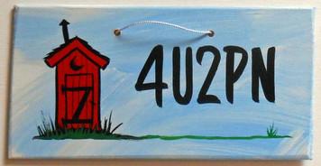 4U2PN OUTHOUSE SIGN - Bathroom Decor - by George Borum