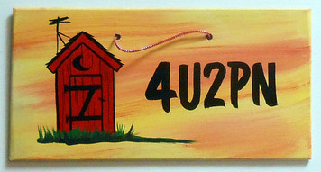 OUTHOUSE BATHROOM SIGN - 4U2PN by George Borum