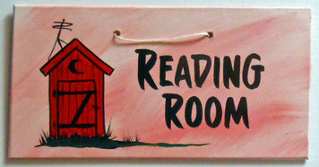 BATHROOM READING ROOM SIGN by George Borum