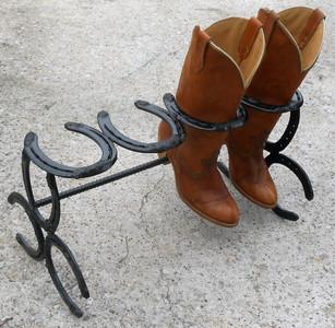 HORSESHOE BOOT RACK By the Amish Blacksmith