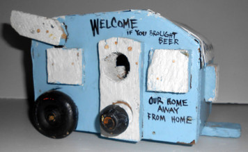 """TIN CAN"" TRAVEL TRAILER BIRDHOUSE by Wayne Keck"