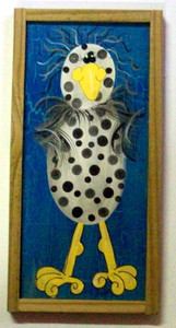 Funky Chicken Painting #610  by Auntie Reba