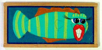 Funky Fish Painting #605 by Auntie Reba