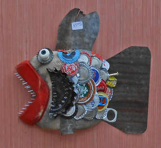 Carved Wooden Fish Wall Hanger #117 by Steve Meadows