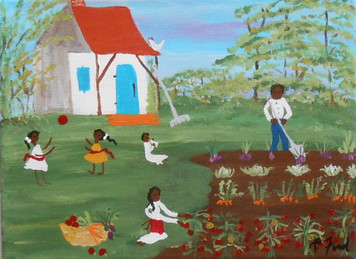 WORKING in the GARDEN - BLACK ART by P Ford