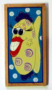 Funky Fish Painting #602  by Auntie Reba