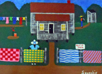 QUILT SALE PAINTING by Squeakie