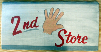 NEW LOW PRICE.... 2nd HAND STORE old time Sign