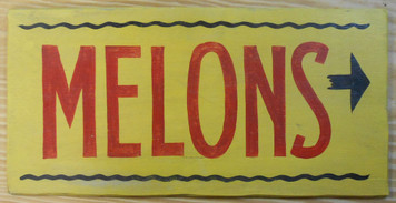 NEW LOW PRICE...  WATERMELON SIGN