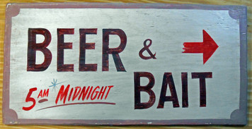 BEER & BAIT - BAIT SHOP SIGN