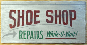SHOE SHOP REPAIRS SIGN