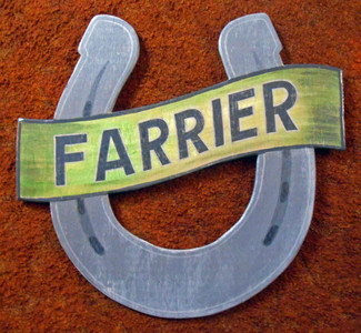 FARRIER - BLACKSMITH - HORSESHOE SIGN by George Borum