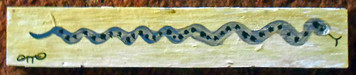 SNAKE PAINTING by Otto Schneider