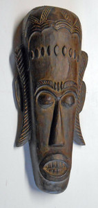 CARVED AFRICAN MASK - lots of detailed carvings