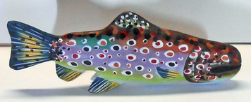 BEAUTIFUL CARVED FISH - Very Colorful