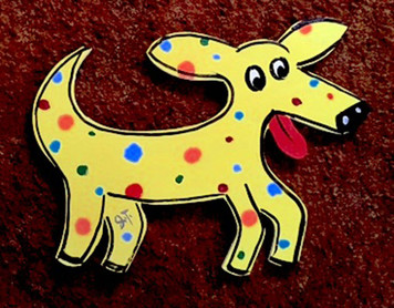 BRIGHT YELLOW DOG by John Taylor