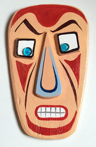 3-D WOOD WALL HANGING MASK by George Borum