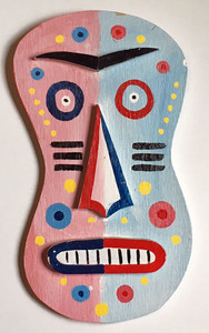 3-D WOOD WALL HANGING MASK #3  -  by George Borum