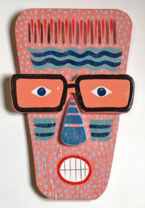 3-D WOOD WALL MASK #5 - George Borum