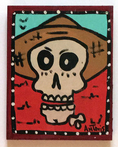 CALAVERA (SUGAR SKULL) PAINTING by Anthony Tavis