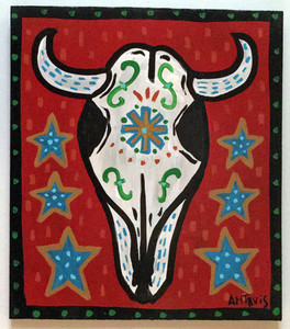 STEER SKULL PAINTING by Anthony Tavis