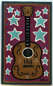 BIG GUITAR PAINTING by Anthony Tavis