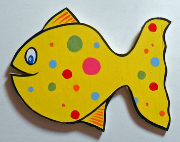 SPOTTED WOODEN FISH by George Borum