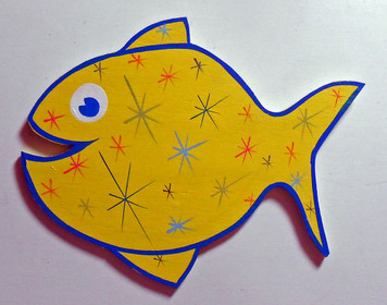 FISH CUT-OUT with Stars by George Borum