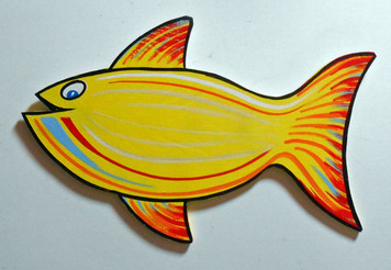CUT OUT WOODEN FISH by George Borum