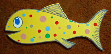 BIGGER CUT OUT FISH by George Borum