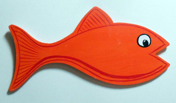 LONG ORANGE FISH CUT-OUT by George Borum