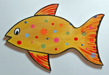 GOLD COLORED CUT-OUT FISH by George Borum