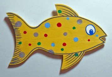 Dotted FISH CUT-OUT by George Borum