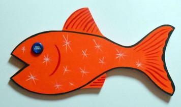 ORANGE FISH - Bottle Cap Eye by George Borum